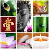 Fototapety bouddha bambou zen