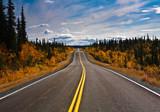 Fototapety Alaska Yukon Highway endlose Weite