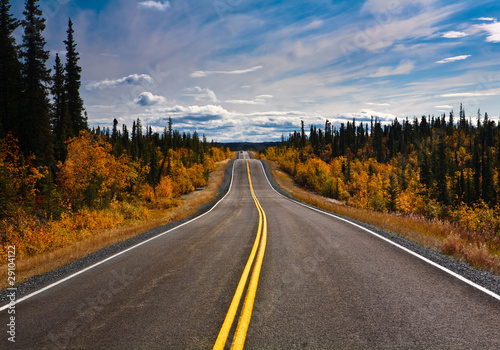 Alaska Yukon Highway endlose Weite Poster