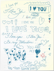 Love paper (not auto-traced)