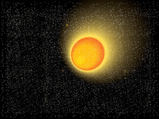 Sun in the universe / Abstract background