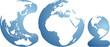 CO globes vector