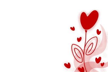 Hintergrund Valentinsblume