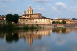 River Arno and church San Frediano in Cestello in Florence poster