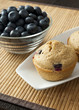 Blueberry Muffin with Bowl of Blueberries