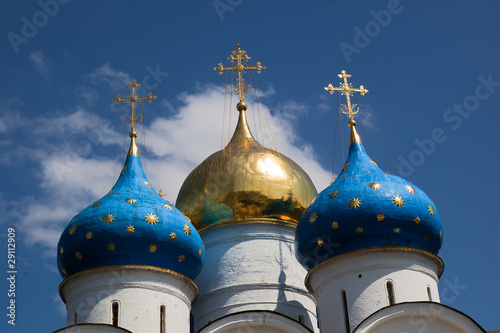 Cupola of Assumption Cathedral. Sergiev Posad. Russia.