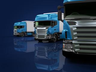 Heavy blue trucks presentation