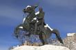 Jackson Statue Lafayette Park Snow Washington DC