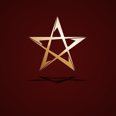 Logo golden star # Vector