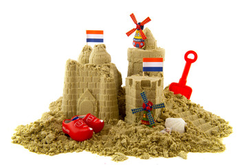 Sandcastle at the Dutch beach