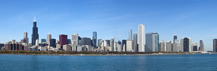 Chicago - Panoramic view from Lake Michigan