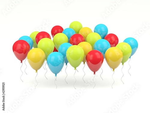 Shiny air balloons isolated on white