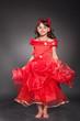 Beautiful little princess dancing