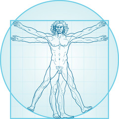 The Vitruvian man (Aqua-Air version)