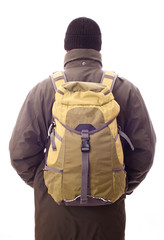 man with a backpack on his back