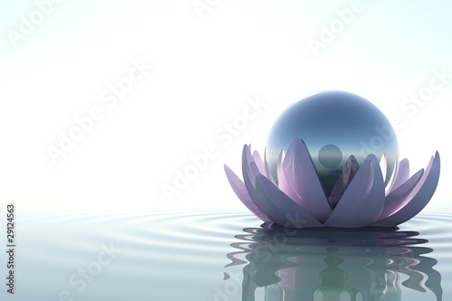 Zen flower with sphere