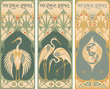 vintage labels: fish and poultry