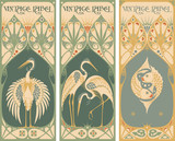 vintage labels: fish and poultry poster