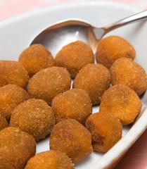 Italian appetizer: fried olives ascolana
