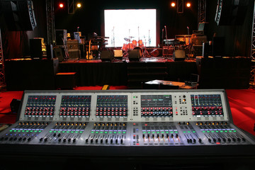 Sound equipments before a concert