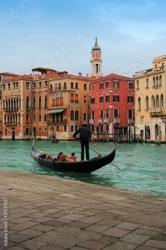 Venice: Traditional gondola on a romantic ride in Rialto