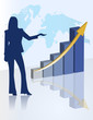 female chart business presentation