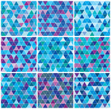 Bright blue winter triangle patterns
