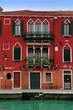 Venice: lovely 15th Century red palace, with gothic windows