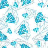 Seamless vector texture with diamonds