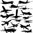 airplane collection 3 - vector