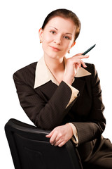young business  woman sitting on the office chair