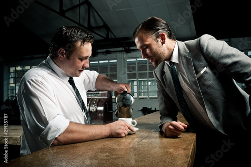 Businessman interested in coffee