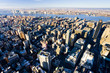 view of Manhattan from The Empire State Building, NYC, USA