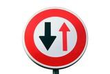 Panneau de priorité à la circulation poster