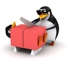 3d Penguin saws his friend in half!