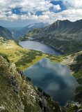 Summer view of the Tatra Mountains. Five Lakes Valley.