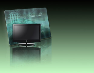 High Resolution 3D Illustration LCD with Credit Card