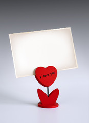 Heart photo holder