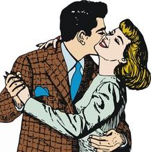 Pareja de enamorados en el dia de San Valentin