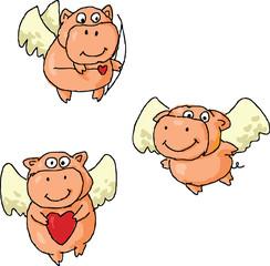 Romantic flying pigs