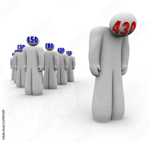 Credit Scores - One Bad Scoring Person Stands Alone