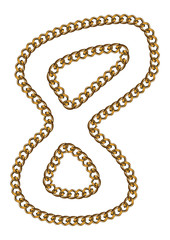 Like Golden Chain Isolated Alphabet Number Eight