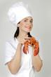 Hummer ist der beste Koch mit Köchin