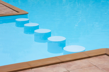 stools in poolside