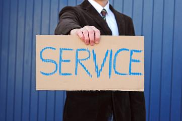 """Pappschild """"Service"""""""