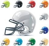 Fototapety Vector American football / gridiron icon set. Part 2 – Helmets