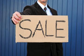 "Pappschild ""Sale"""
