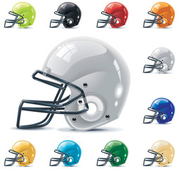 Vector American football / gridiron icon set. Part 2 – Helmets
