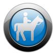 """Metallic Orb Button """"Horse Trail"""""""