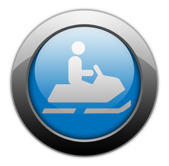 "Metallic Orb Button ""Snowmobiles"""